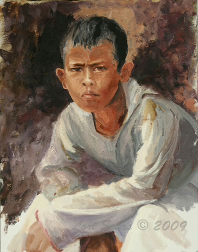 Cambodian Boy - Oil